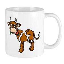 Cow Eating Mugs