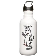 Cow Drinking Milk Water Bottle