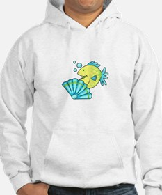 FISH BEHIND CLAM SHELL Hoodie