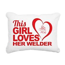 This Girl Loves Her Weld Rectangular Canvas Pillow