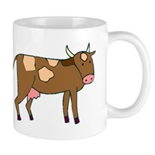 Brown Spotted Cow Mugs