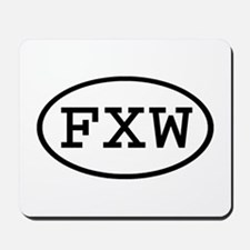FXW Oval Mousepad