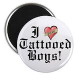 "I love Tattooed Boys 2.25"" Magnet (100 pack)"