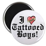 "I love Tattooed Boys 2.25"" Magnet (10 pack)"