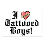 I love Tattooed Boys Postcards (Package of 8)