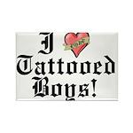 I love Tattooed Boys Rectangle Magnet