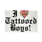 I love Tattooed Boys Rectangle Magnet (10 pack)