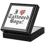 I love Tattooed Boys Keepsake Box