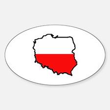 POLAND MAP FLAG Decal