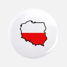"""POLAND MAP FLAG 3.5"""" Button"""