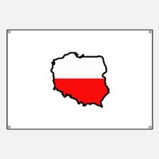 POLAND MAP FLAG Banner