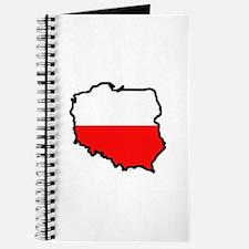POLAND MAP FLAG Journal
