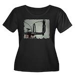 bike pic Women's Plus Size Scoop Neck Dark T-Shirt