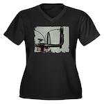 bike pic Women's Plus Size V-Neck Dark T-Shirt
