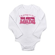 Cute Big sister again Long Sleeve Infant Bodysuit
