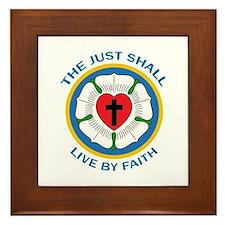 LIVE BY FAITH Framed Tile