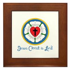 JESUS IS LORD Framed Tile