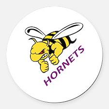 HORNETS Round Car Magnet