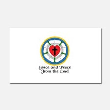 GRACE AND PEACE Car Magnet 20 x 12