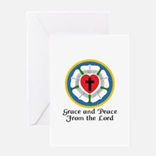GRACE AND PEACE Greeting Cards