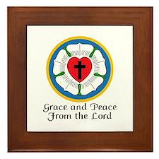 GRACE AND PEACE Framed Tile