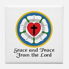 GRACE AND PEACE Tile Coaster