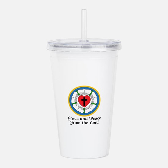 GRACE AND PEACE Acrylic Double-wall Tumbler