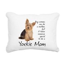 Yorkie Mom Rectangular Canvas Pillow