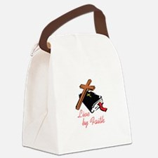 LIVE BY FAITH Canvas Lunch Bag
