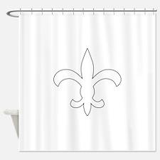 REVERSE APP FLEUR DE LIS Shower Curtain
