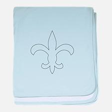 REVERSE APP FLEUR DE LIS baby blanket