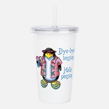 BYE BYE TENSION Acrylic Double-wall Tumbler