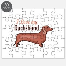 I LOVE MY DACHSHUND Puzzle