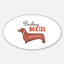 DARLING DOXIES Decal