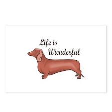 LIFE IS WIENDERFUL Postcards (Package of 8)