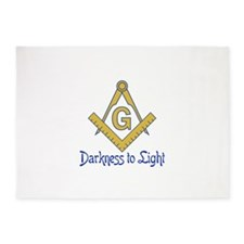 DARKNESS TO LIGHT 5'x7'Area Rug