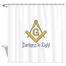 DARKNESS TO LIGHT Shower Curtain