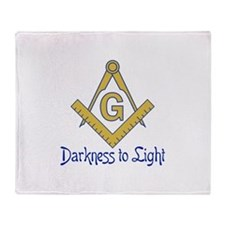 DARKNESS TO LIGHT Throw Blanket