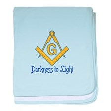 DARKNESS TO LIGHT baby blanket