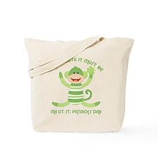 Sock Monkey 1st St. Pats Tote Bag