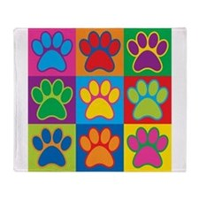 Pop Art Paws Throw Blanket