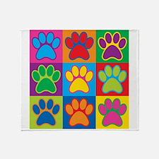 Pop Art Paws Throw Blanket
