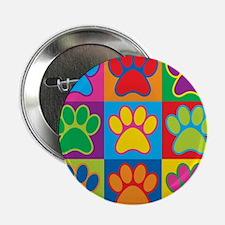 """Pop Art Paws 2.25"""" Button"""