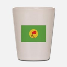 Zaire flag Shot Glass