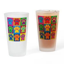 Pop Art Paws Drinking Glass