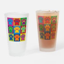 Pop Art Paws Drinking Glass