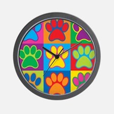 Pop Art Paws Wall Clock