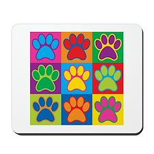 Pop Art Paws Mousepad