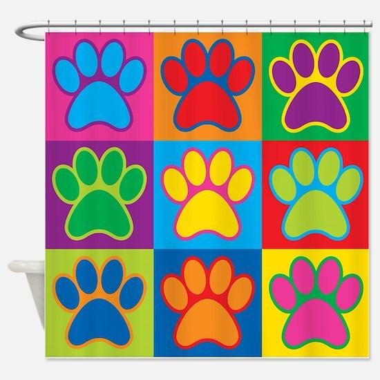 Pop Art Paws Shower Curtain