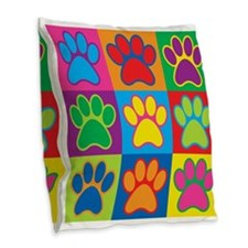 Pop Art Paws Burlap Throw Pillow